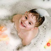 Toddler water heater bath